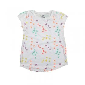تیشرت یقهگرد دخترانه اچ اند ام | H&M