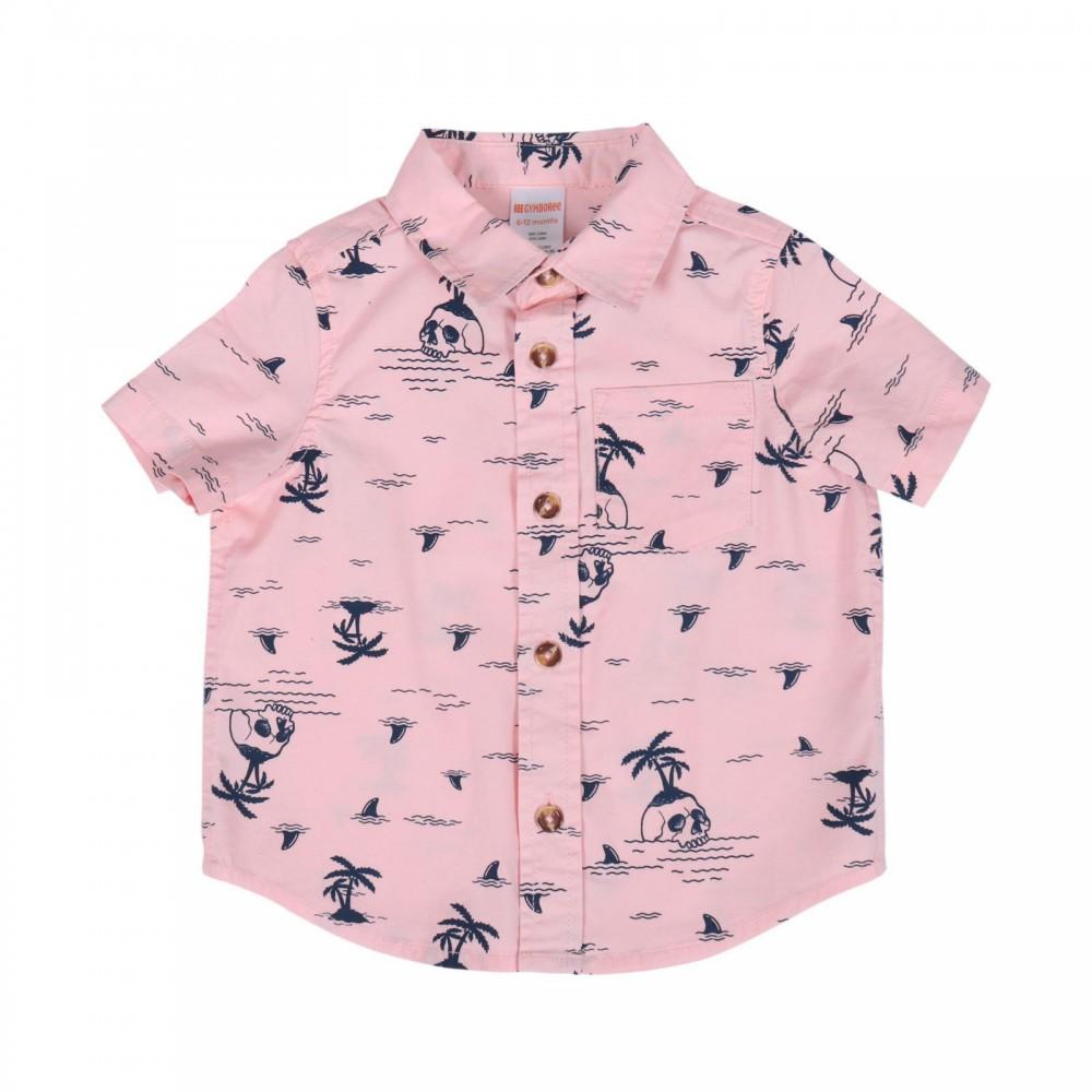 پیراهن آستین کوتاه پسرانه طرح هاوایی | GYMBOREE