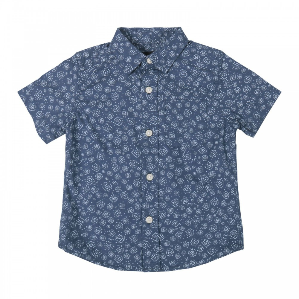 پیراهن آستین کوتاه طرح دار پسرانه | PLACE