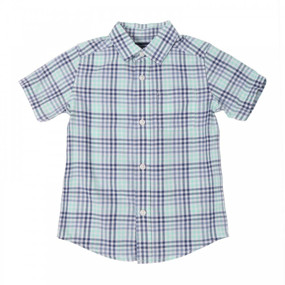 پیراهن آستین کوتاه چهارخانه پسرانه | PLACE