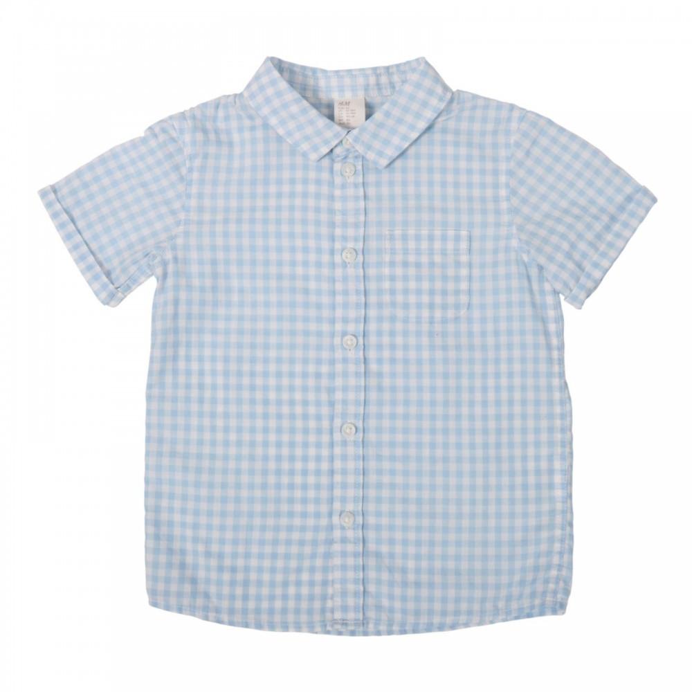 پیراهن آستین کوتاه چهارخانه ریز پسرانه اچ اند ام | H&M