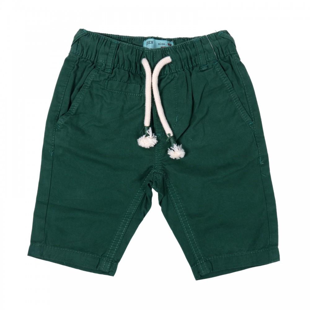 شلوارک پسرانه کمر کش پسرانه رنگ سبز | ARSEN