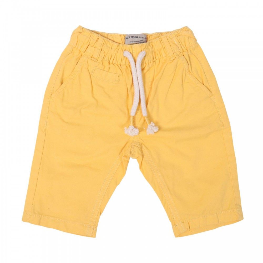 شلوارک پسرانه کمر کش پسرانه رنگ زرد | ARSEN