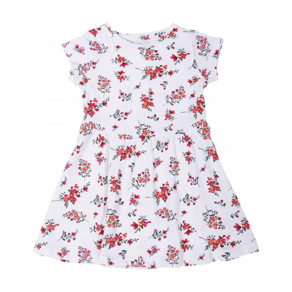 پیراهن سفید گلدار دخترانه | MOTHER CARE