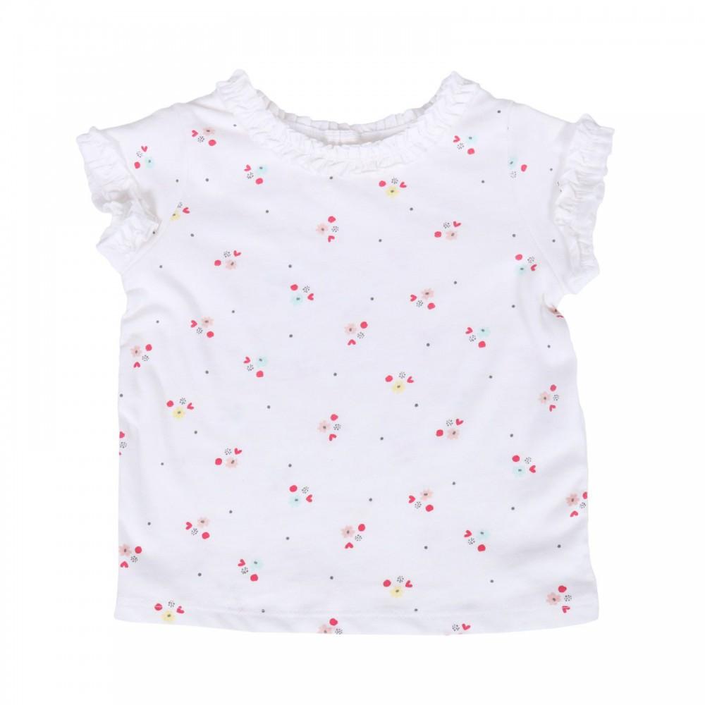 تیشرت سفید گلدار دخترانه اچ اند ام | H&M