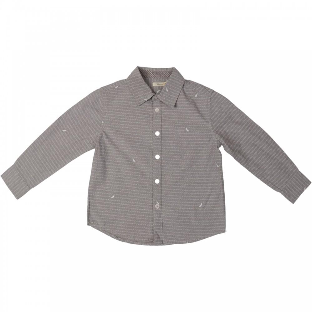 پیراهن آستین بلند طرح دار پسرانه