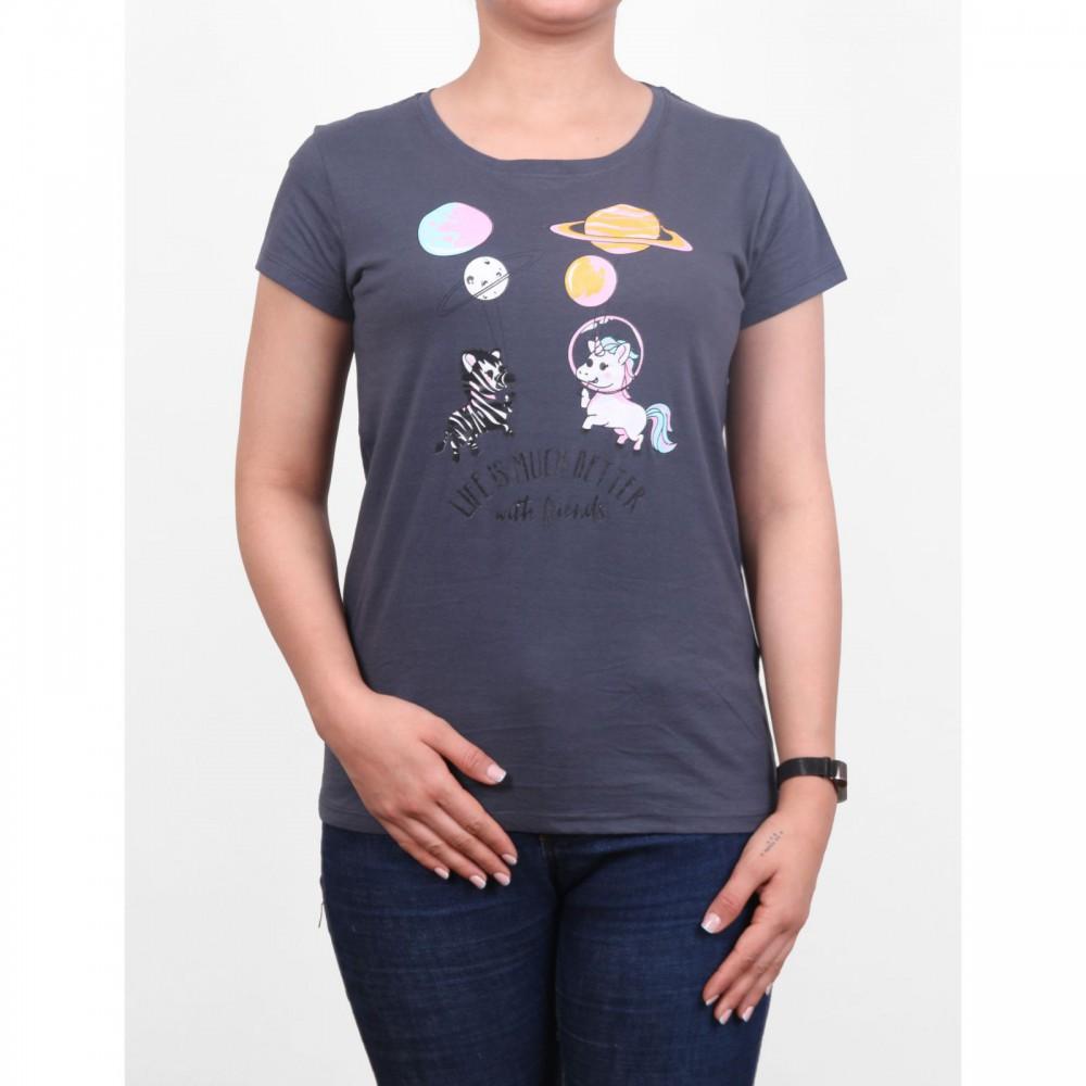 تیشرت یقه گرد طرحدار زنانه | FBSISTER