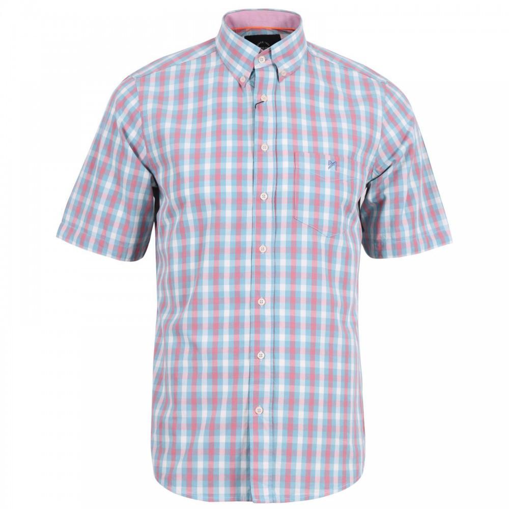 پیراهن آستین کوتاه چهارخانه جیبدار مردانه
